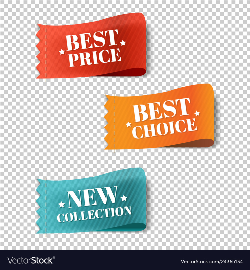 Price Tags Set Transparent Background Royalty Free Vector