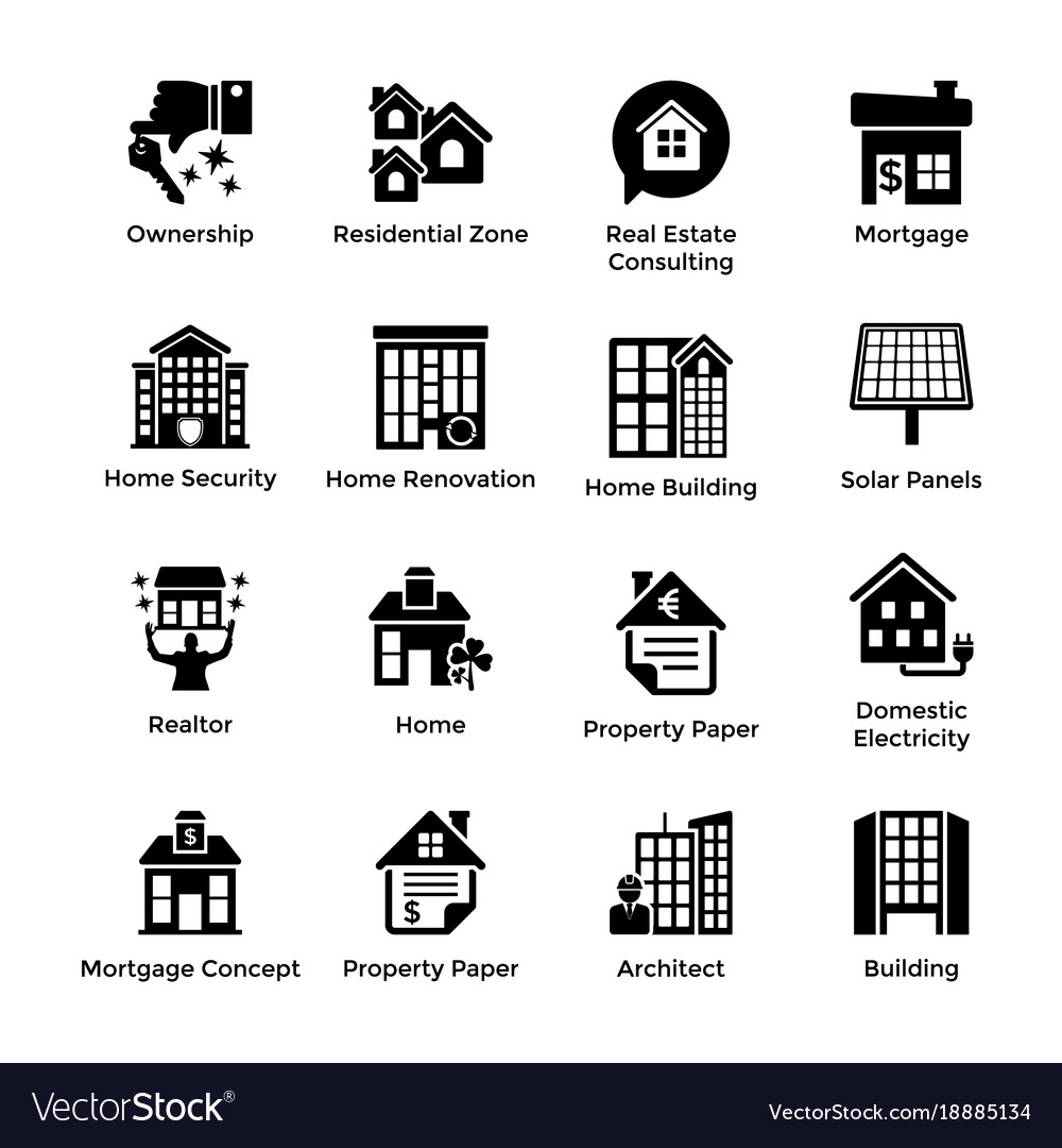 Real estate glyph icons 9