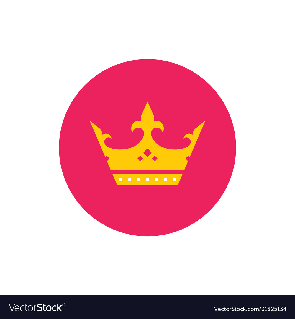 Royal crown - concept colored icon in flat graphic