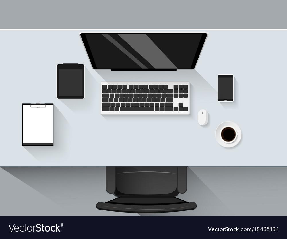 Set of flat design modern business office