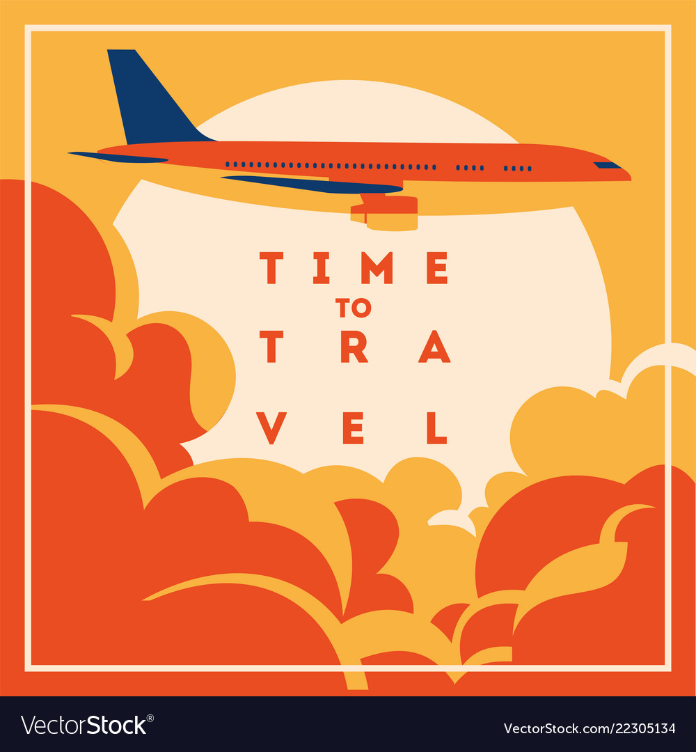 Time to travel and summer holiday poster