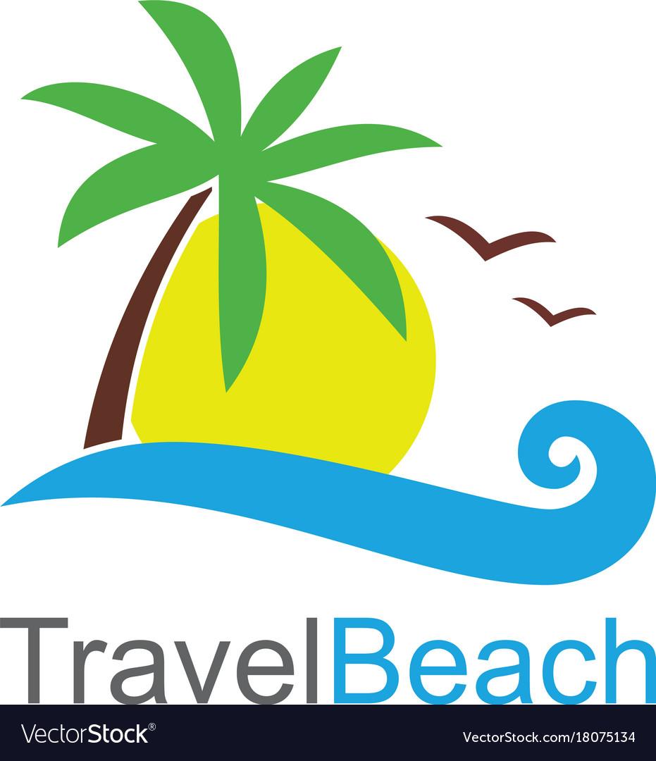 Travel beach logo