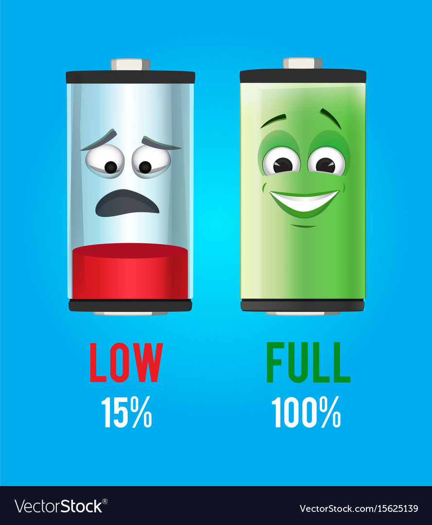 Concept batteries characters