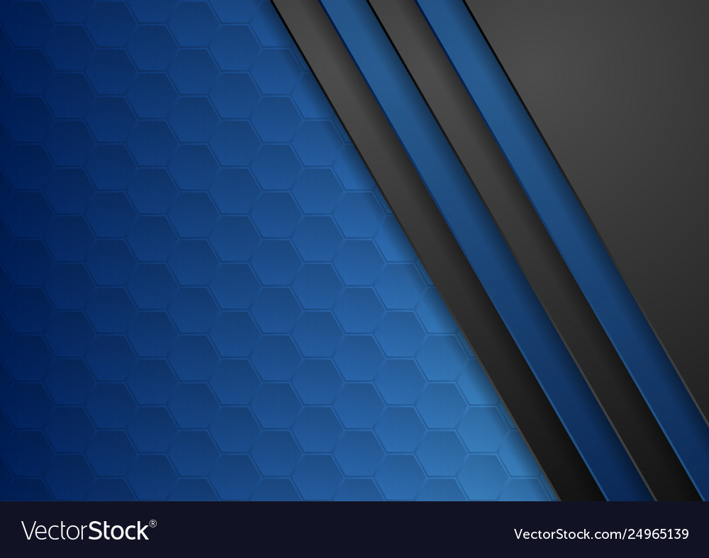 Dark blue abstract corporate tech background