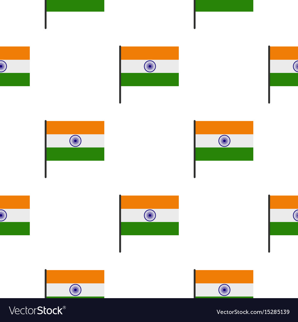 Indian flag pattern seamless vector image