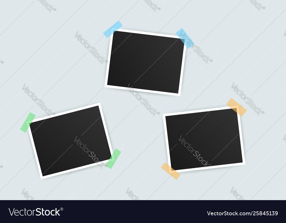 Photo frame mockup design realistic photograph