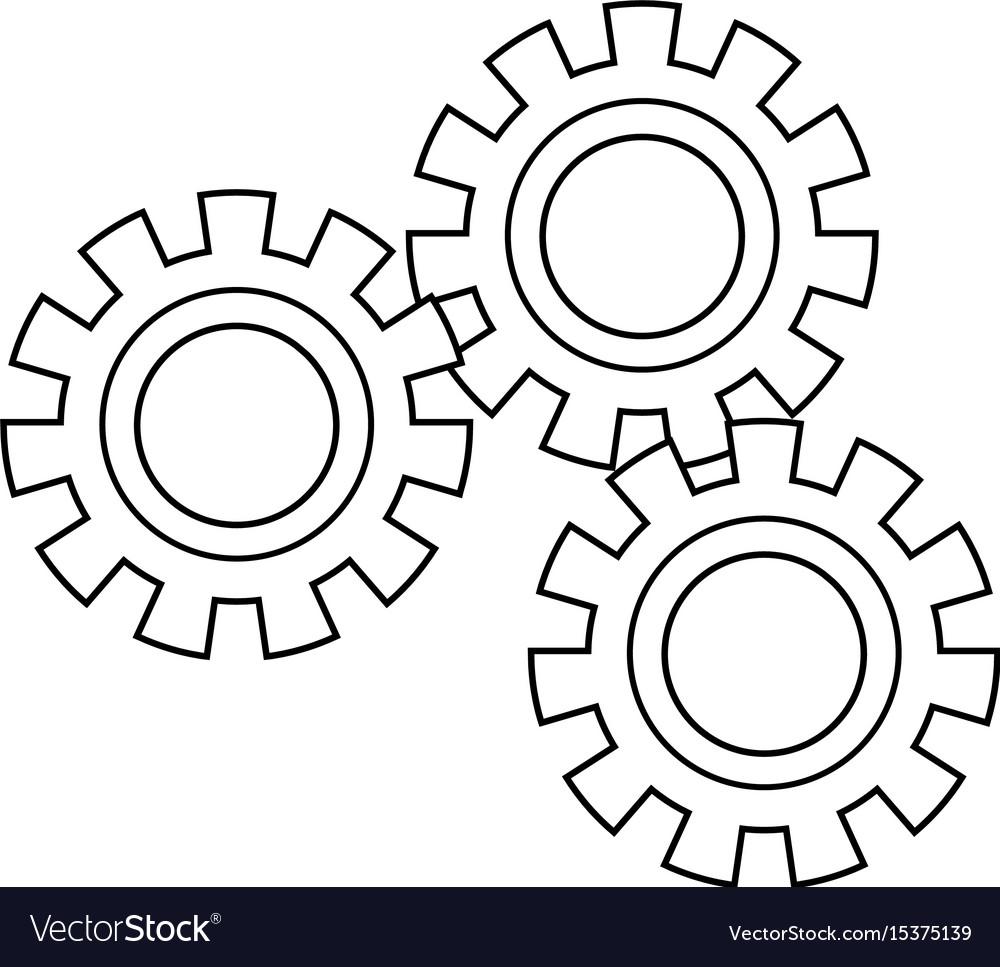 Set gear wheel cog cooperation teamwork concept