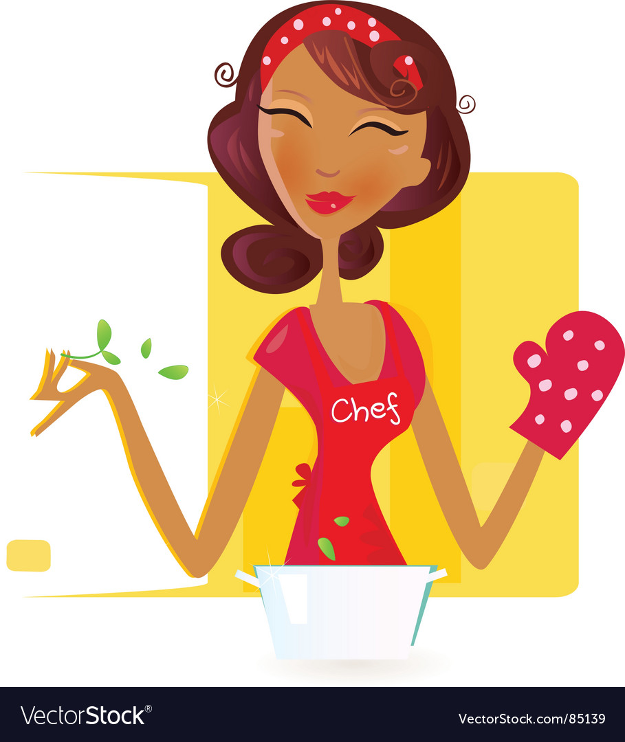 Sexy woman chef vector image