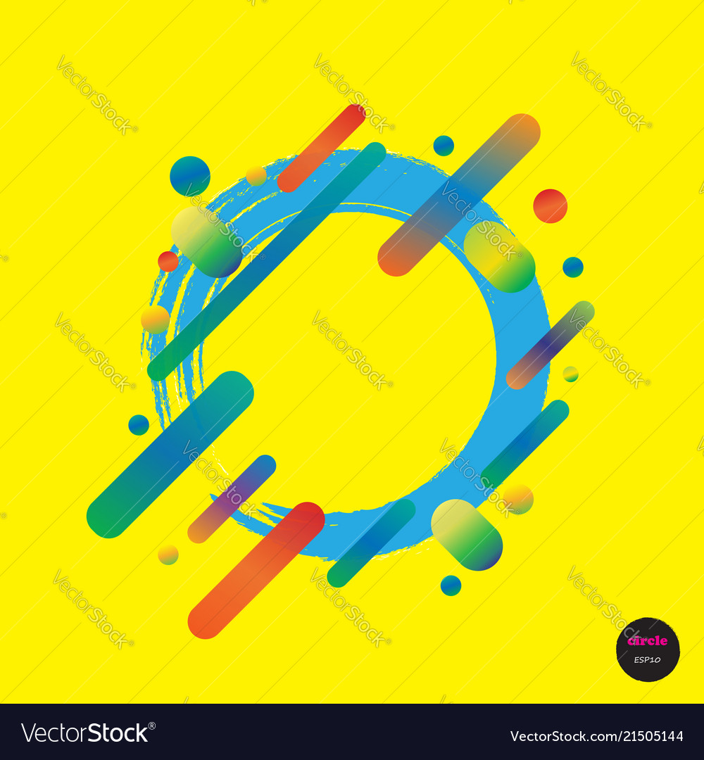 Design colorful circles elements template frame