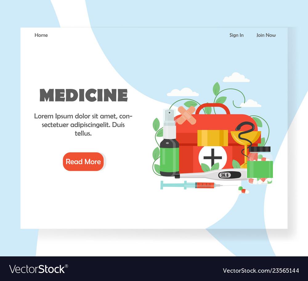 Medicine website landing page design
