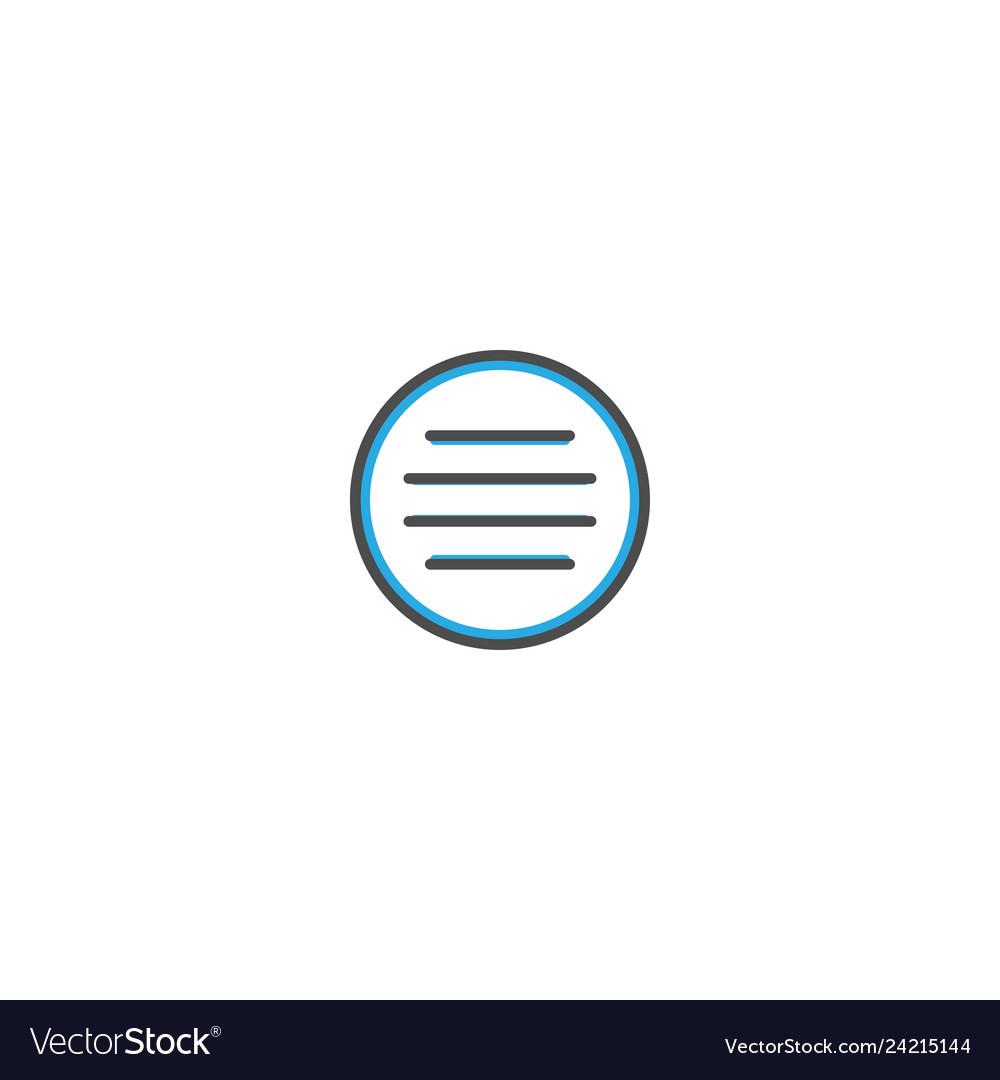 Menu icon design essential icon
