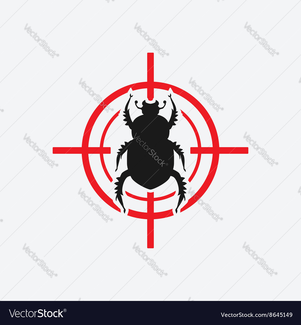 Beetle icon red target
