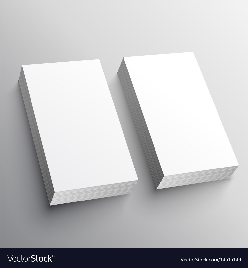 Blank business card mockup presentation design vector image reheart