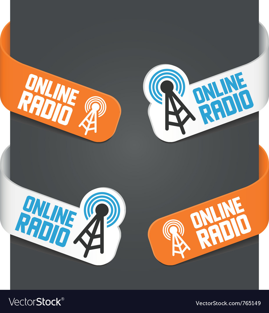 Left and right side signs - online radio