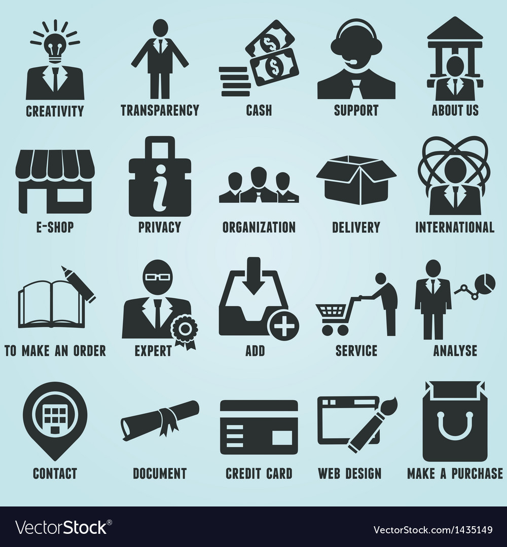Set of marketing internet and service icons