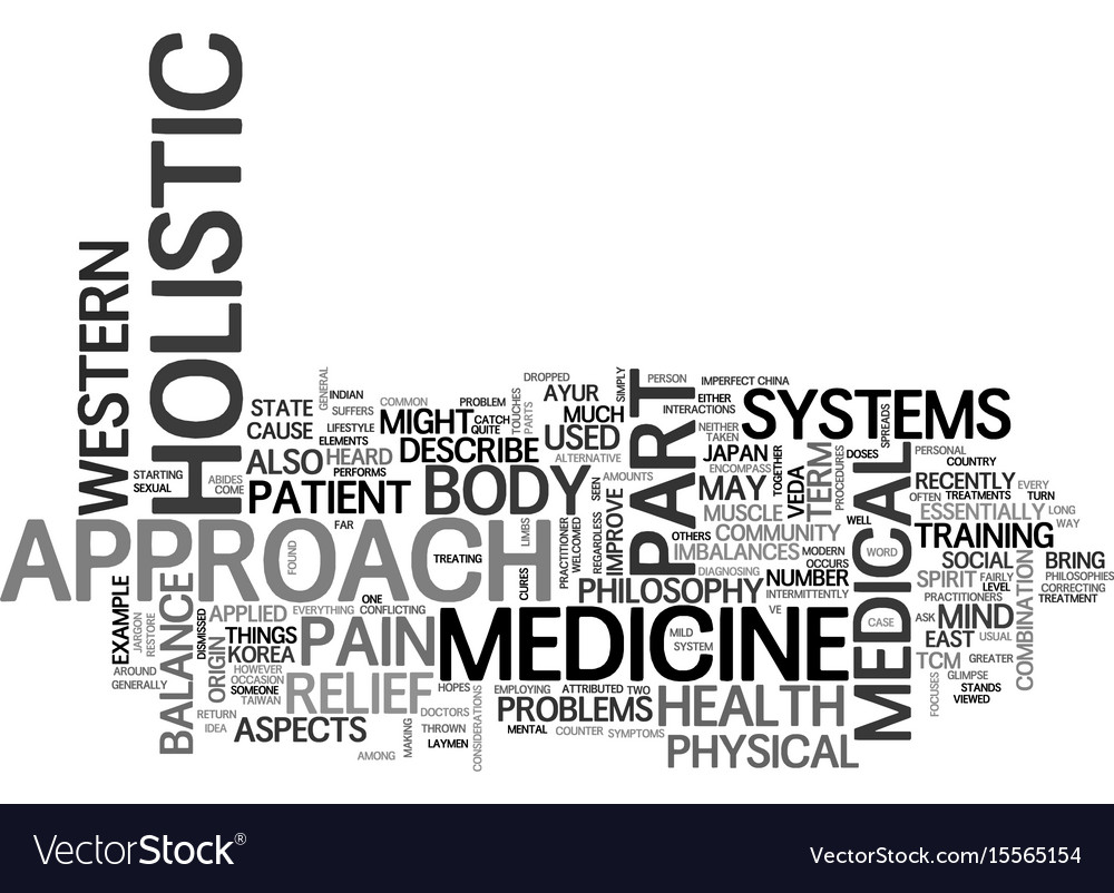 A glimpse into the holistic approach to medicine vector image