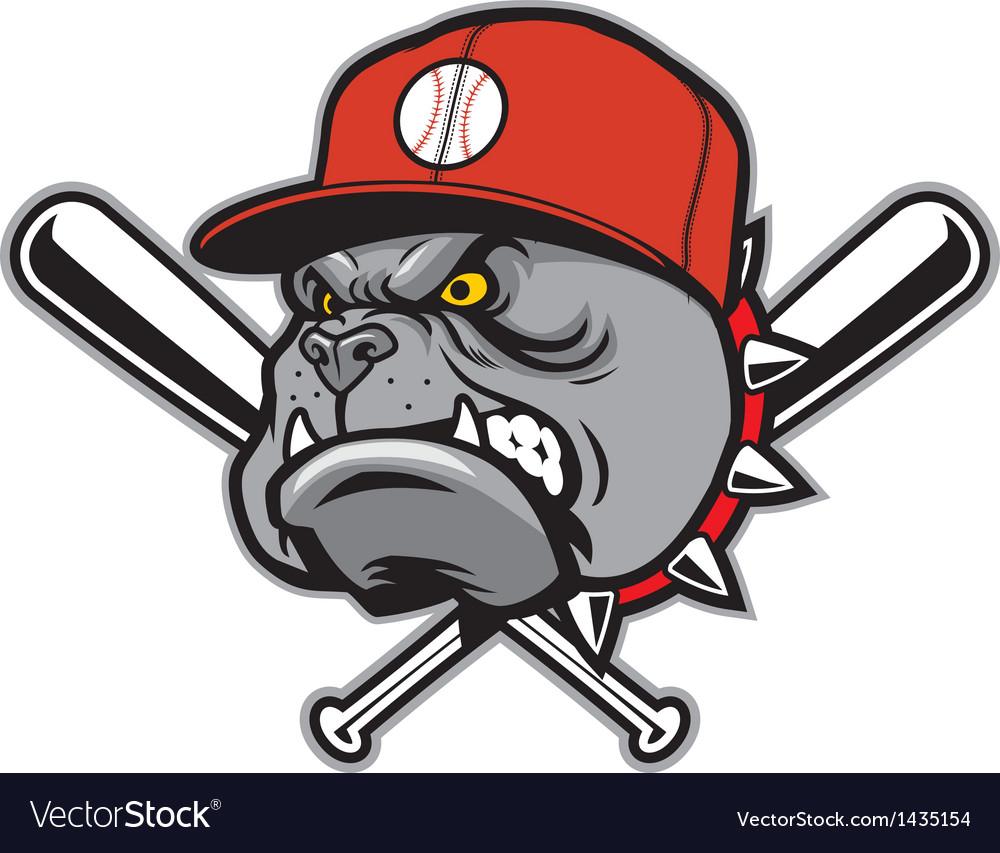 bulldog as a baseball mascot royalty free vector image