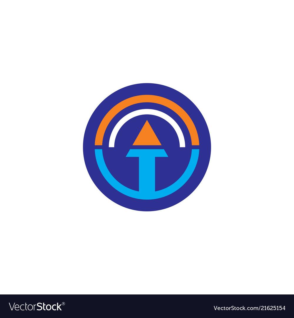 Circle arrow business logo