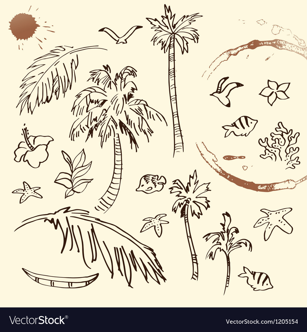 Collection of Beach Doodles