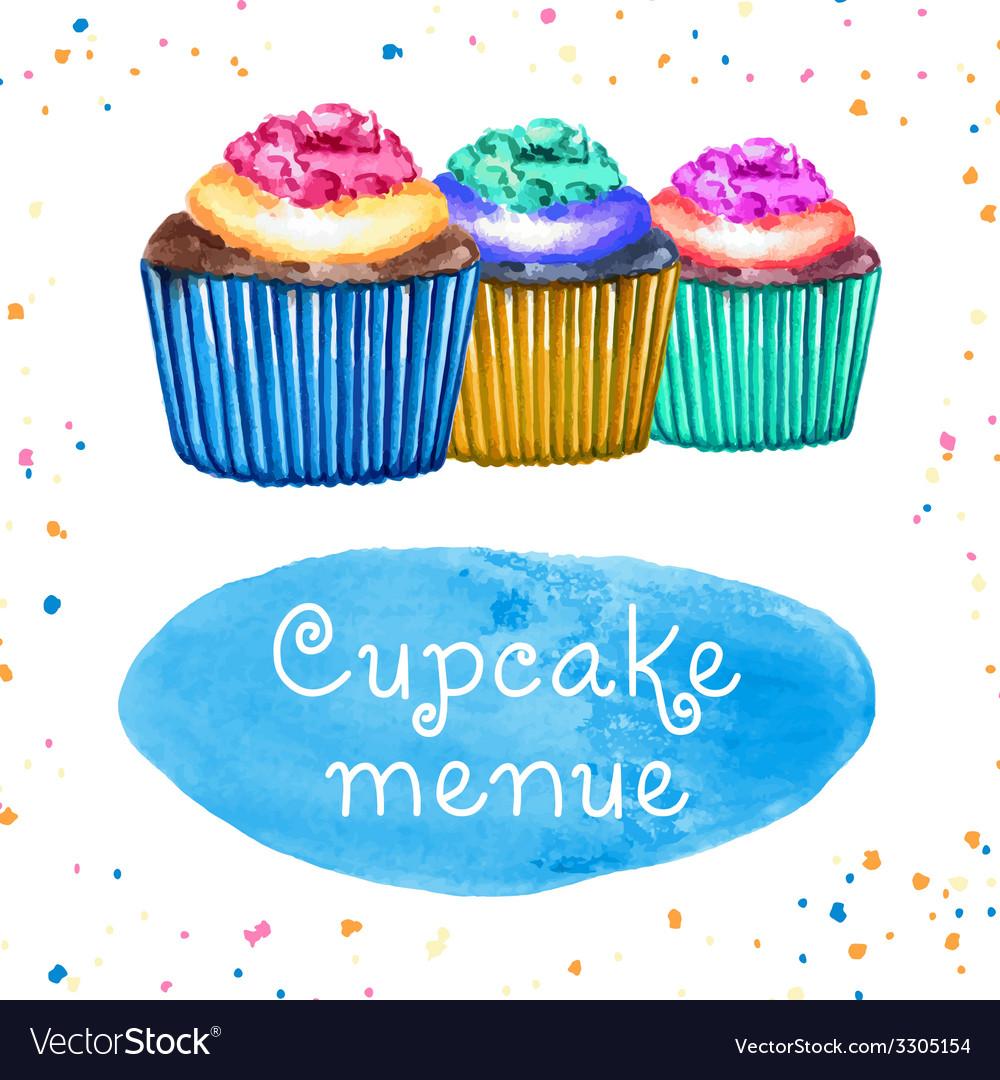 Cupcakes Menue
