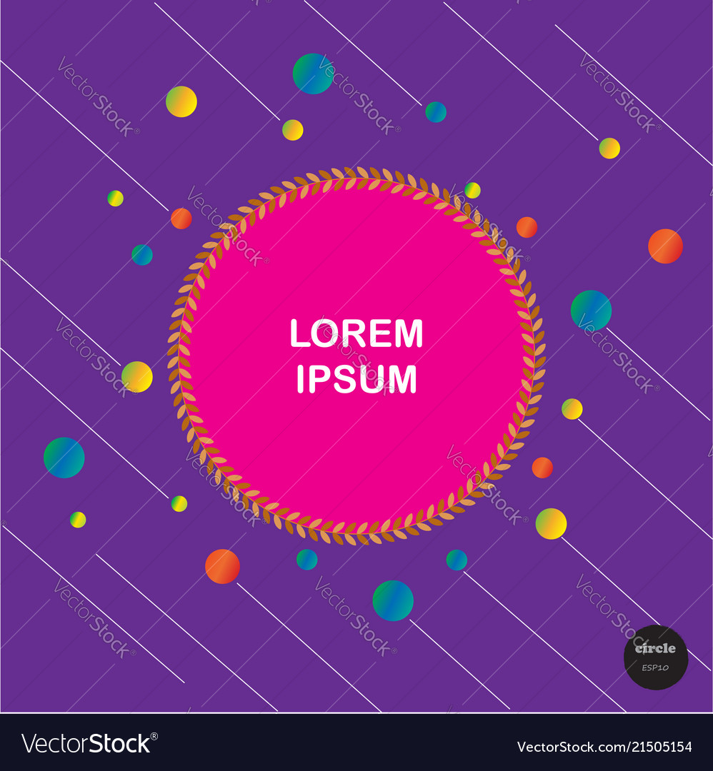 Design colorful circles with line elements