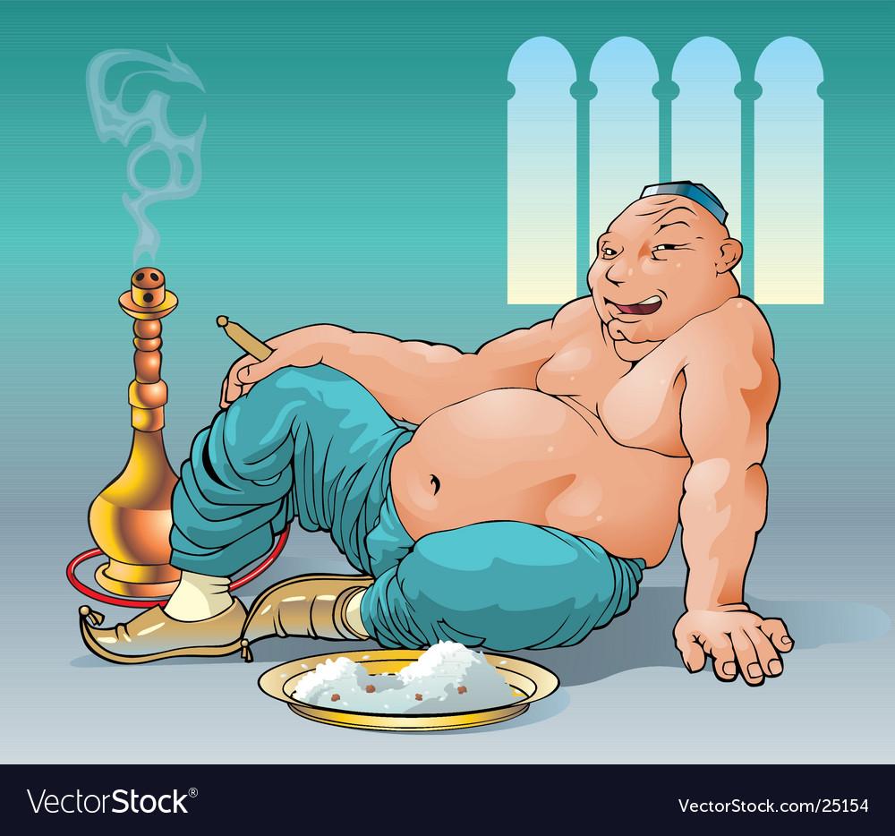 Glutton vector image