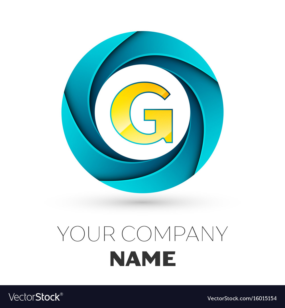 Letter G Logo Symbol In The Colorful Circle Vector Image