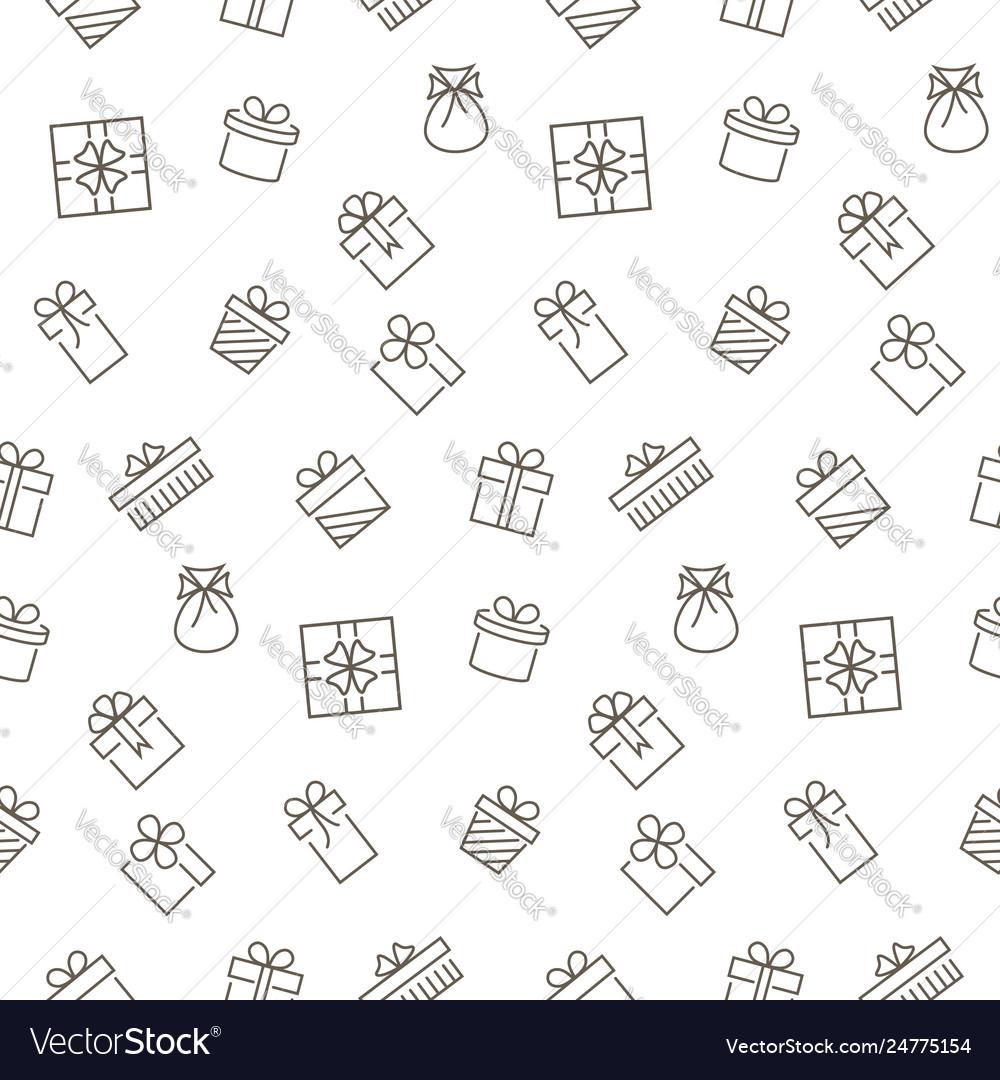 Present seamless pattern background