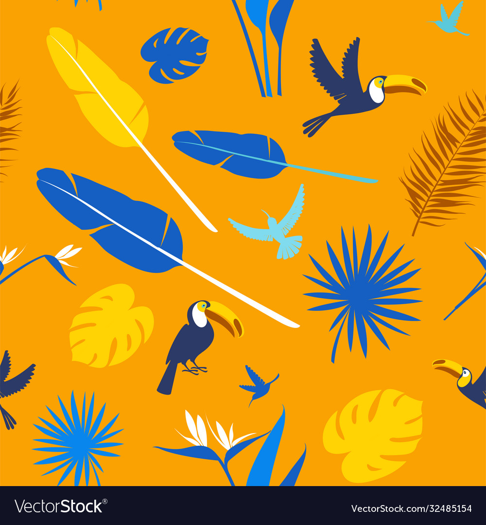 Seamless floral pattern background tropical
