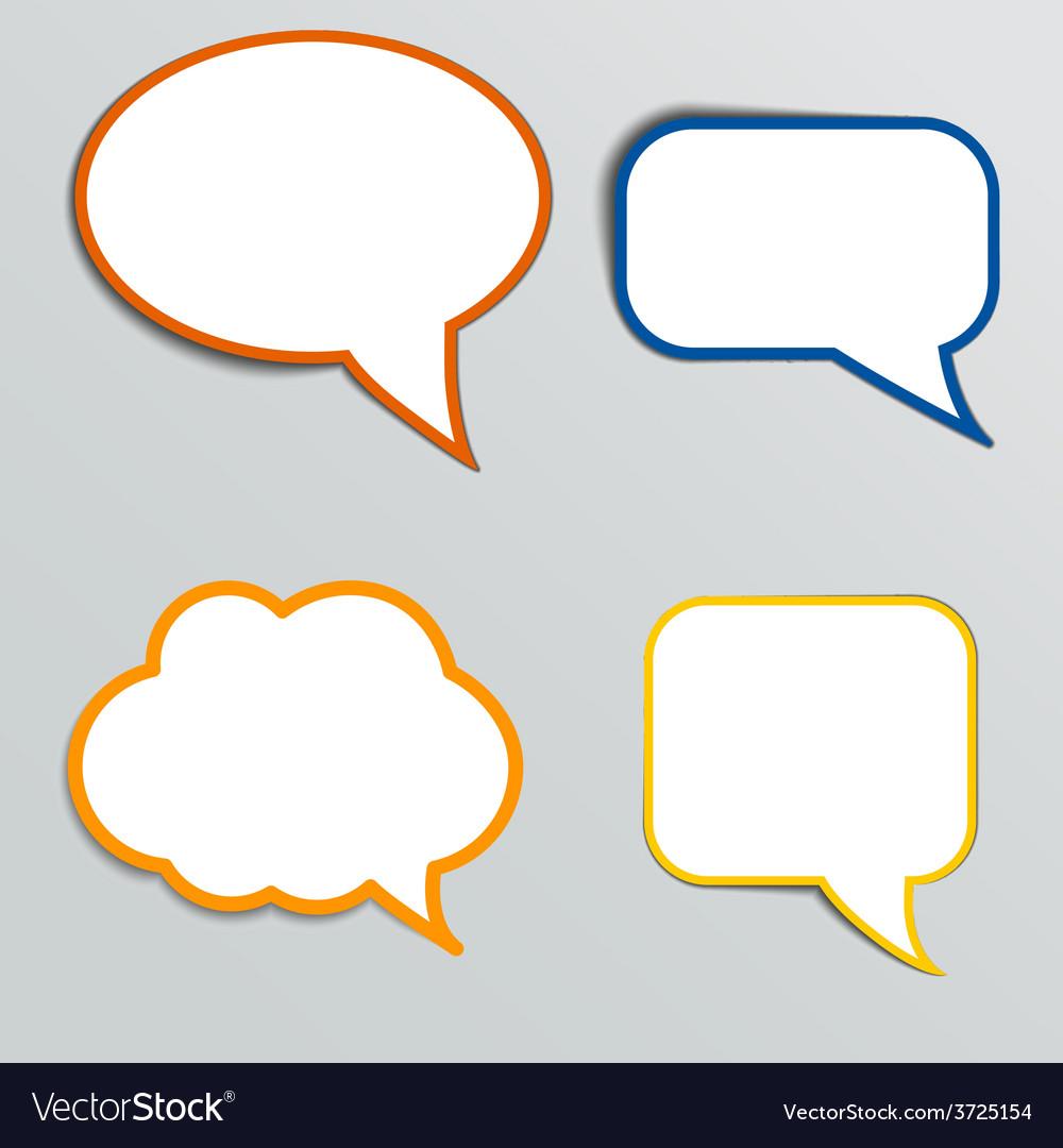 Stickers in form of speech bubbles
