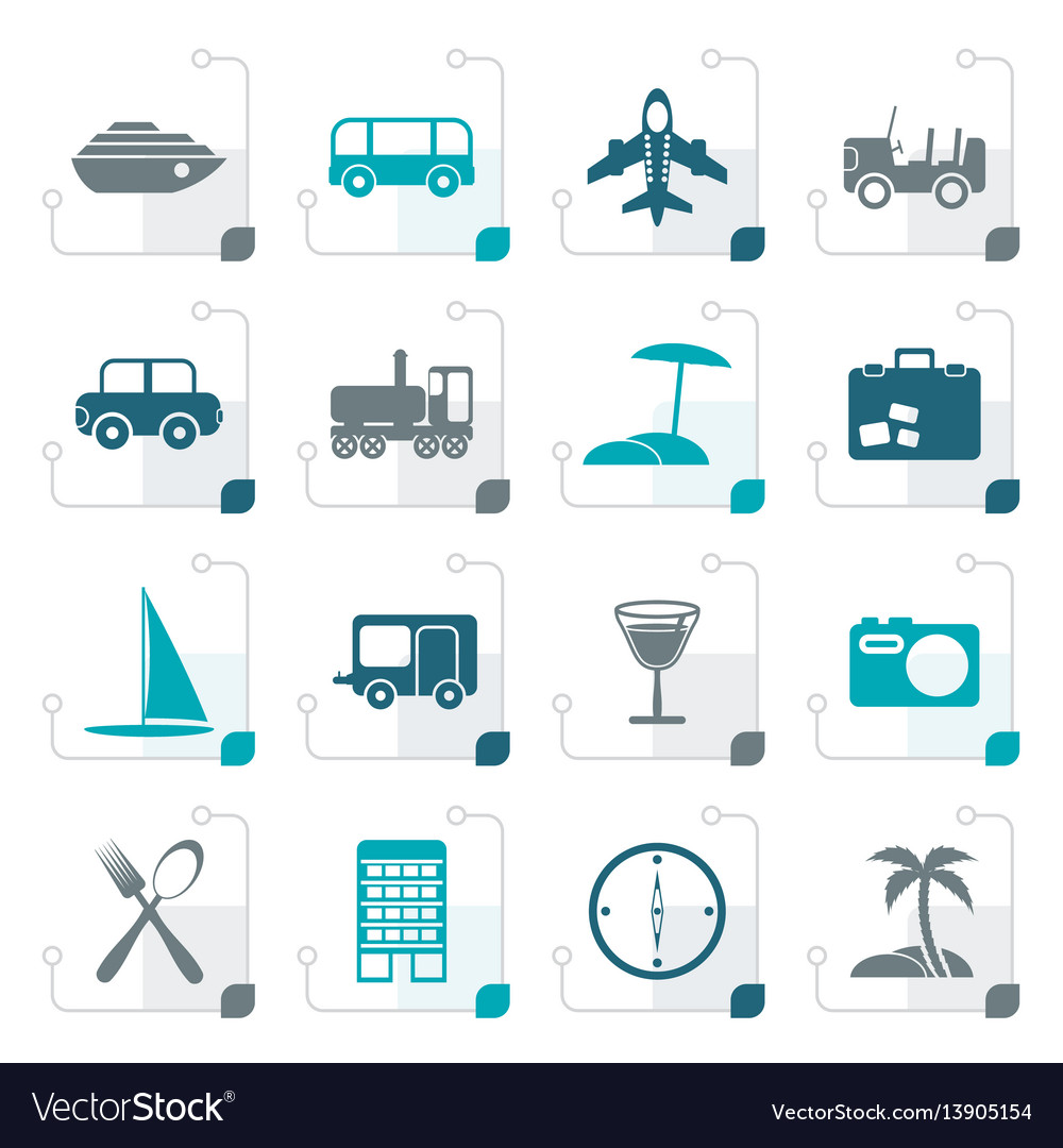 Stylized travel transportation tourism