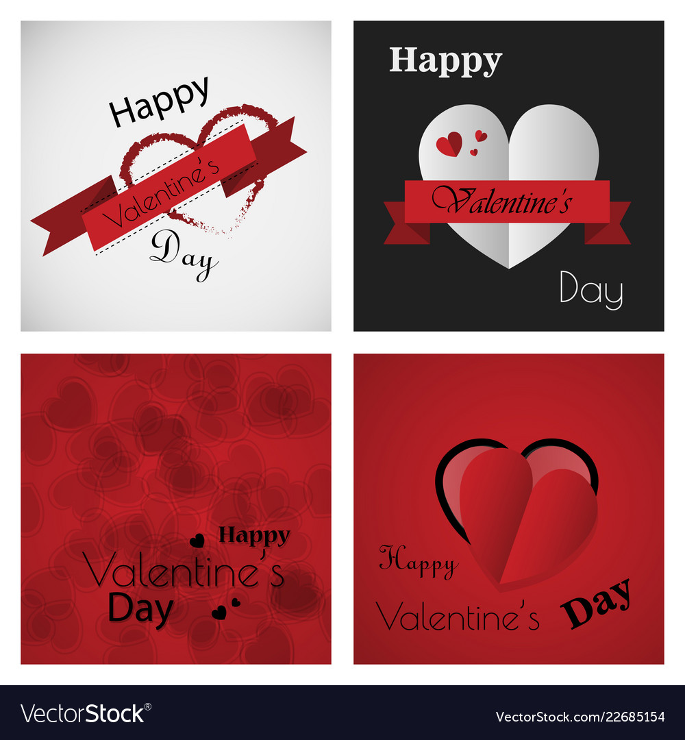 Valentines Day Party Flyer Eps10 Royalty Free Vector Image