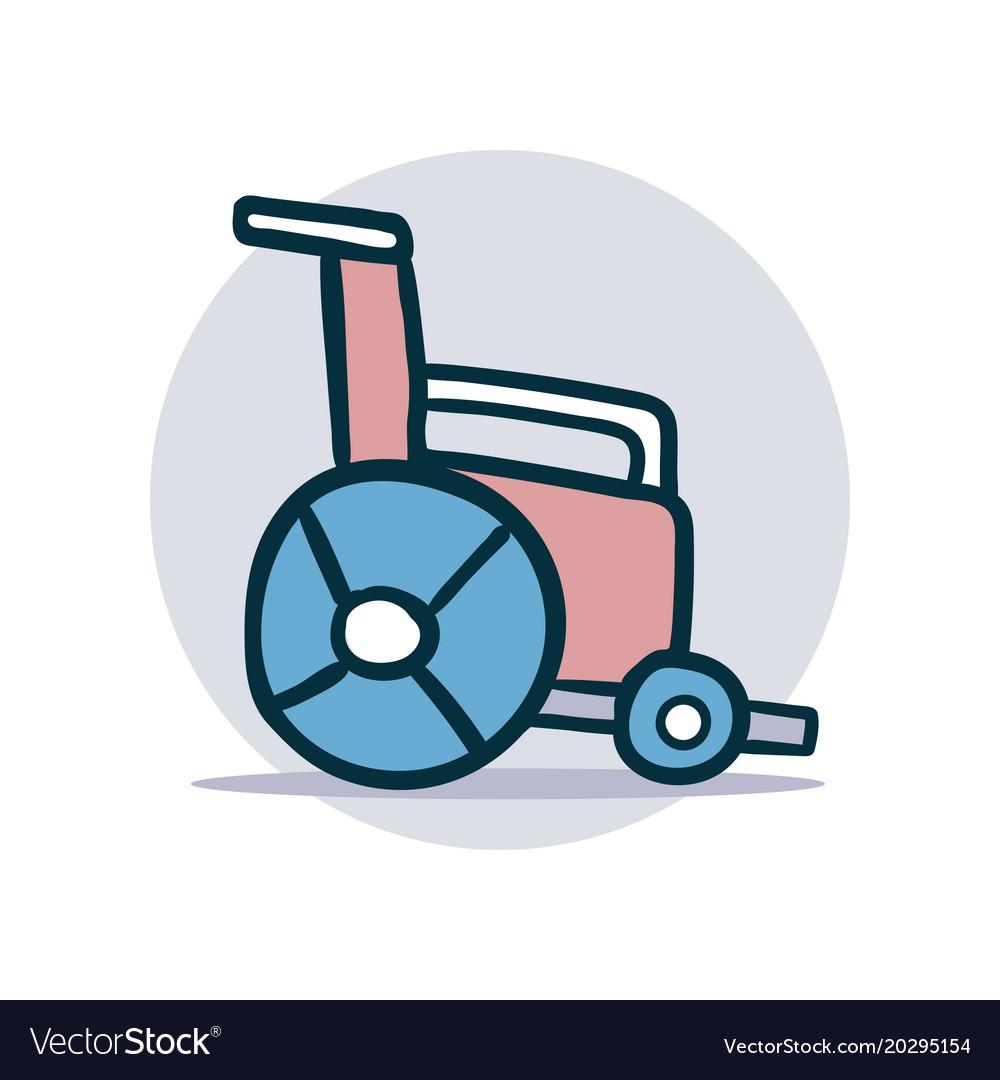 Wheelchair icon cartoon