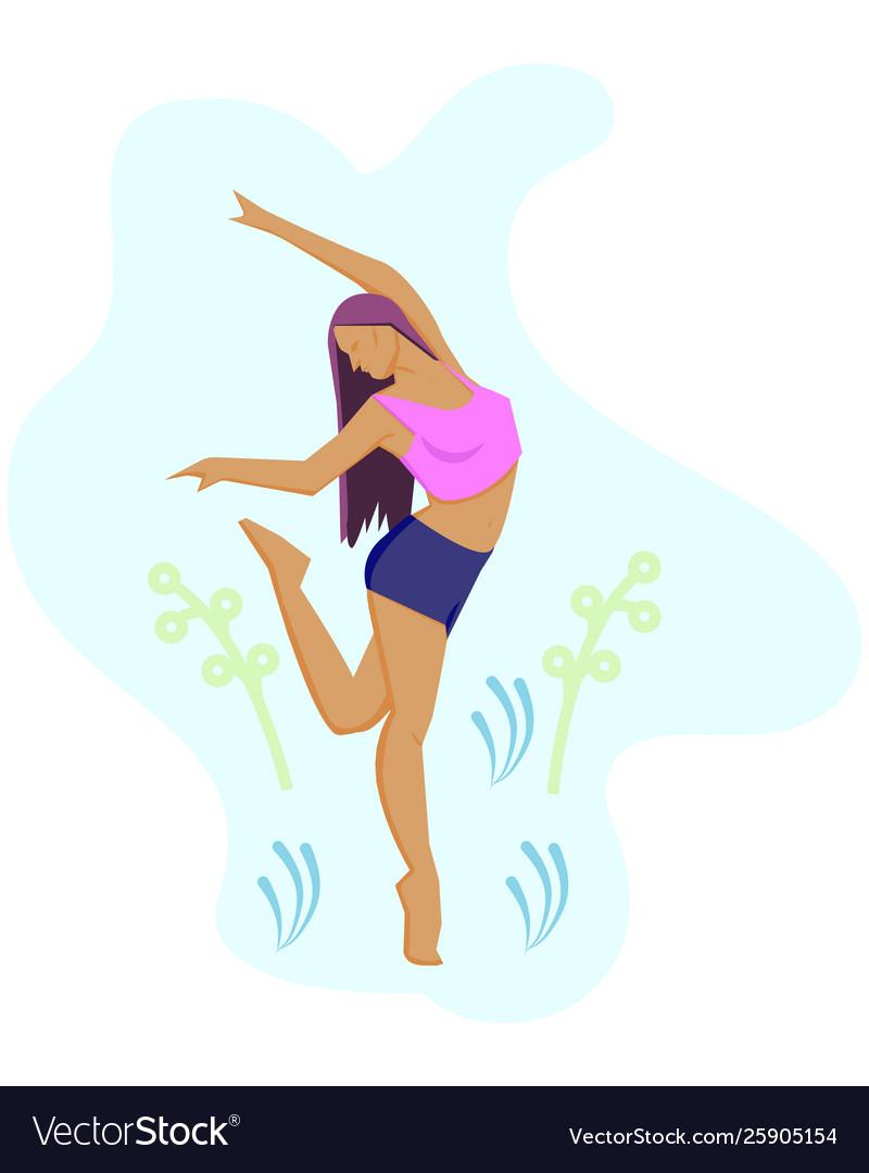 Woman dancing and having fun