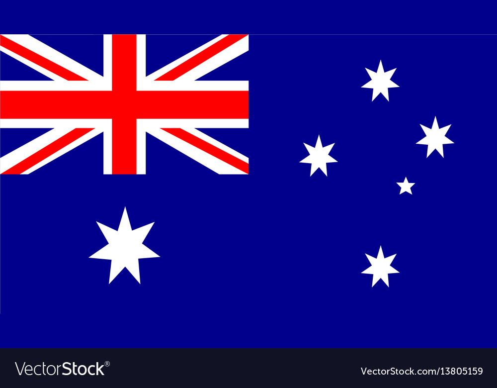 Australia flag for independence day and vector image
