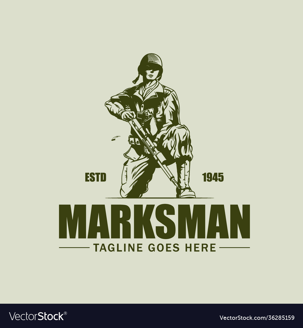 Marksman vintage symbol