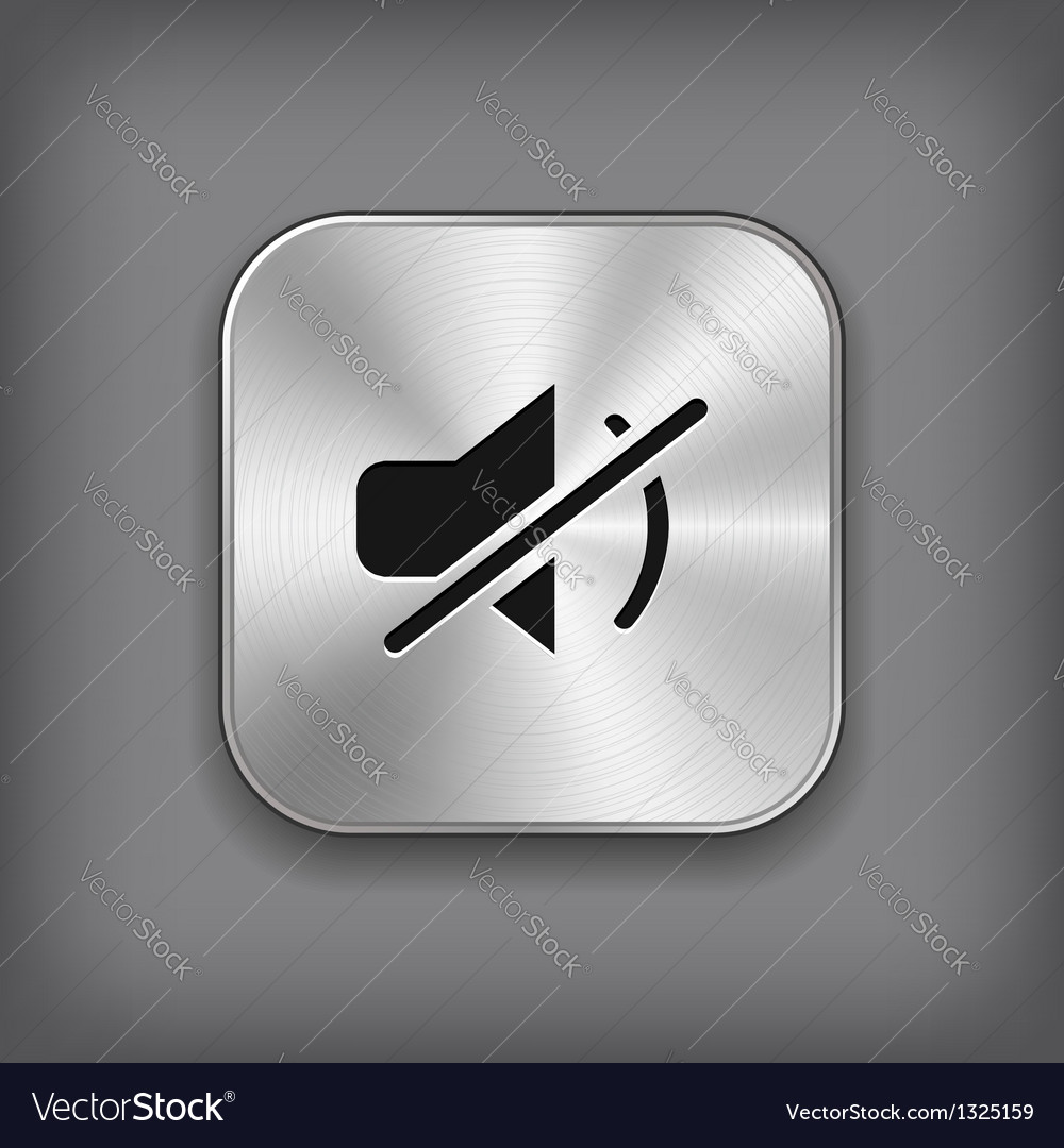 Mute icon - metal app button