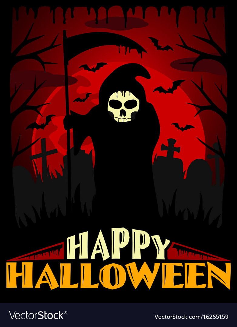 scary halloween background red vector 16265159