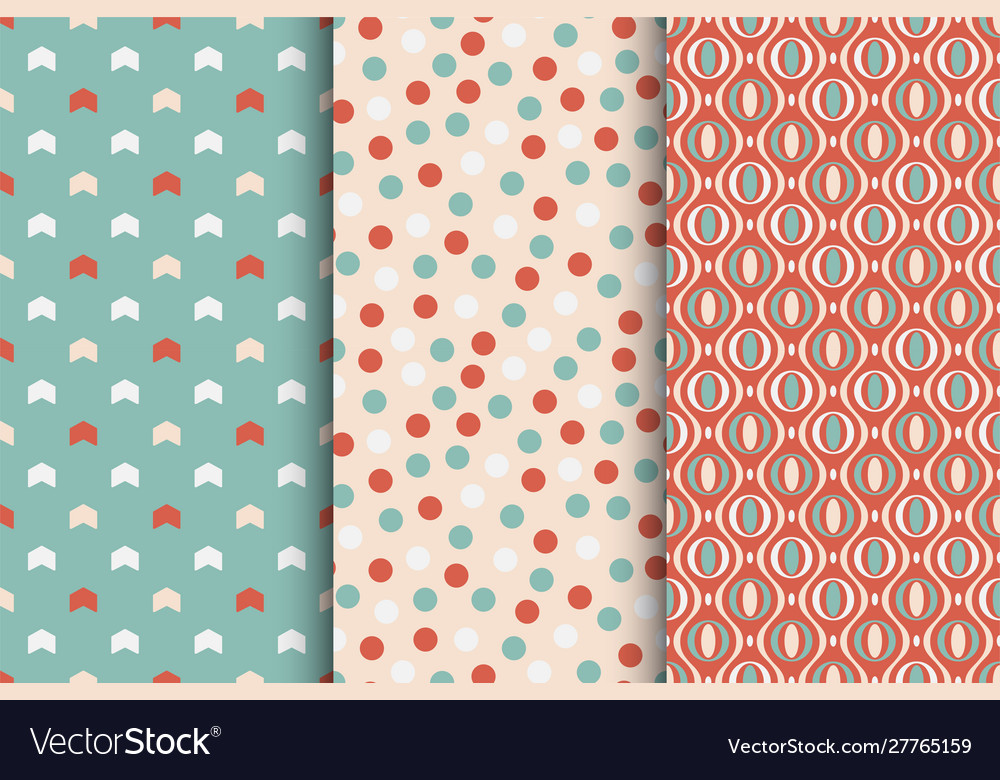 Set seamless colorful patterns - xmas