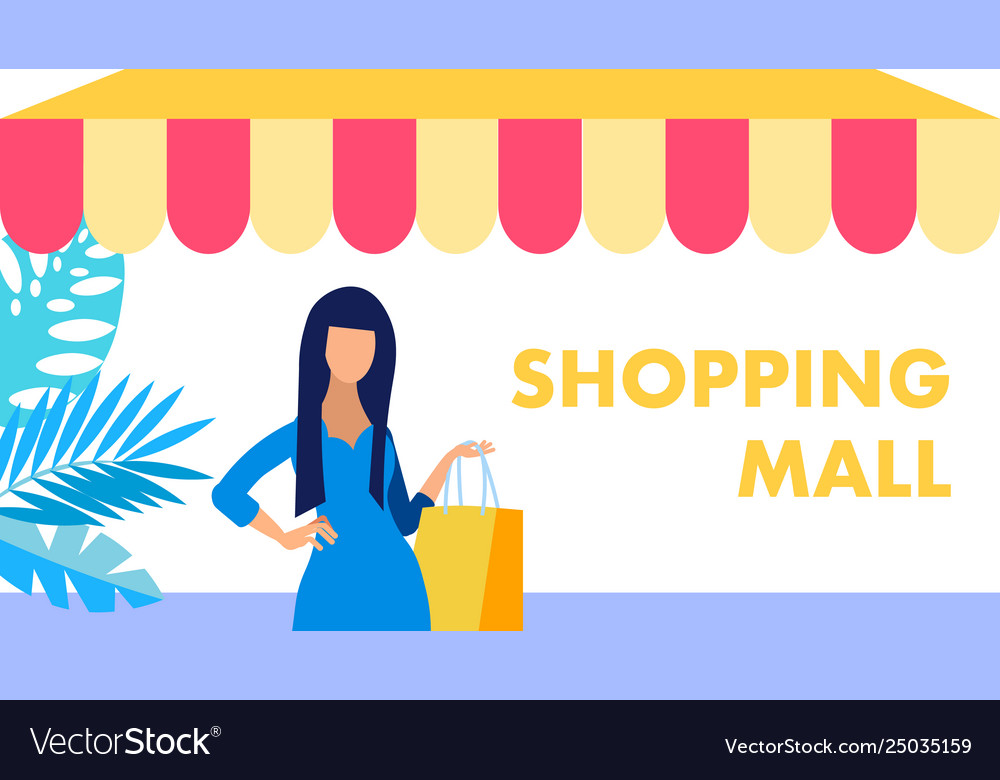 Shopping mall fashion boutique flat banner