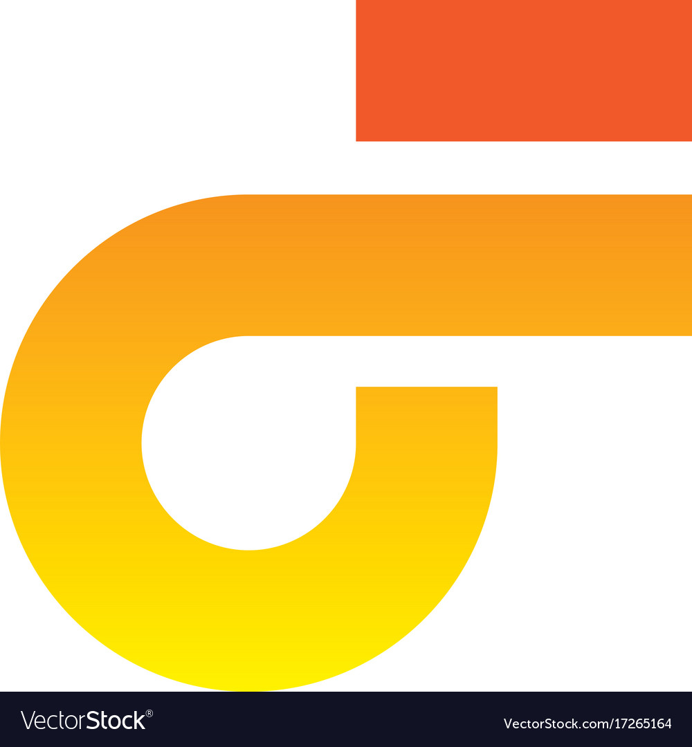 Abstract letter f icon logo vector image