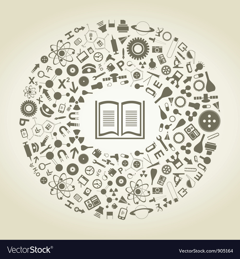 Book of sciences vector image
