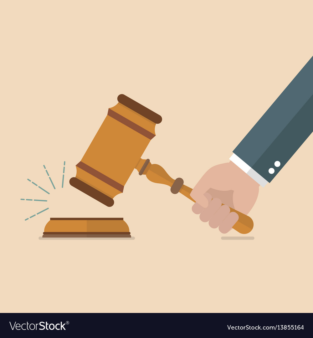 hand holding judges gavel royalty free vector image rh vectorstock com gavel clipart vector gravel victoria tx