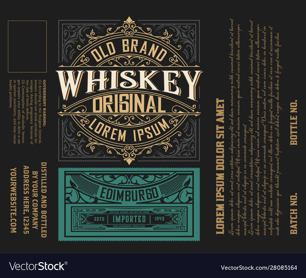 Label design ornate logo template