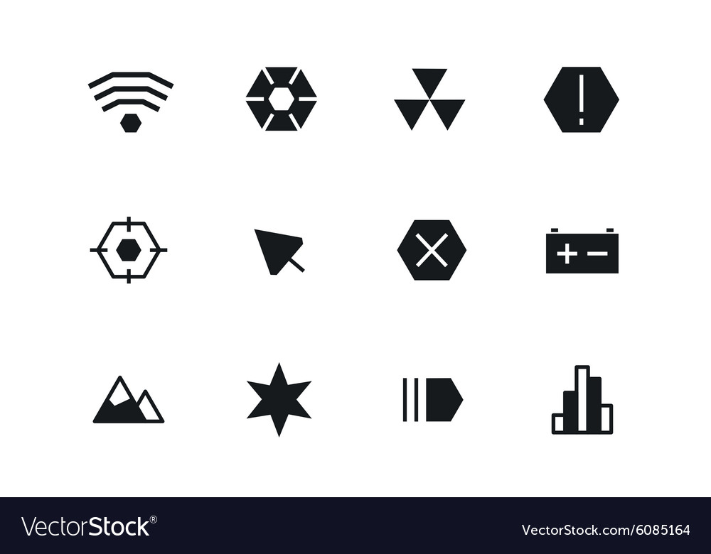 Outline ui technology icons set