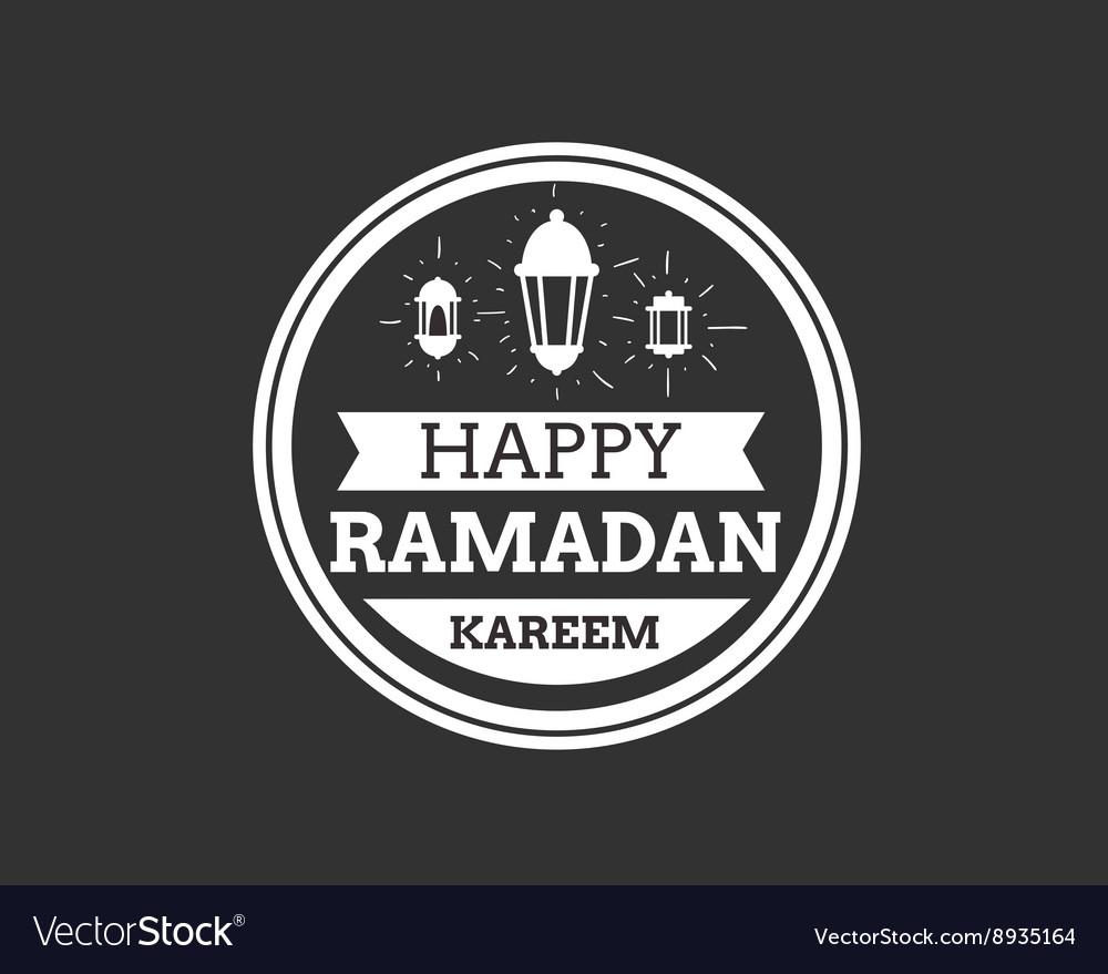 Ramadan Kareem greeting typographic design