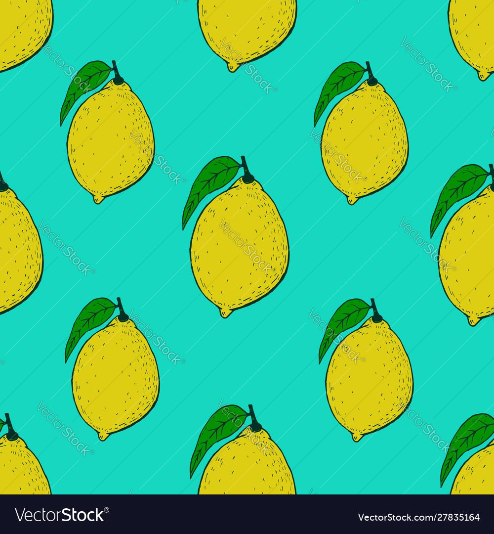 Seamless pattern with lemons design element