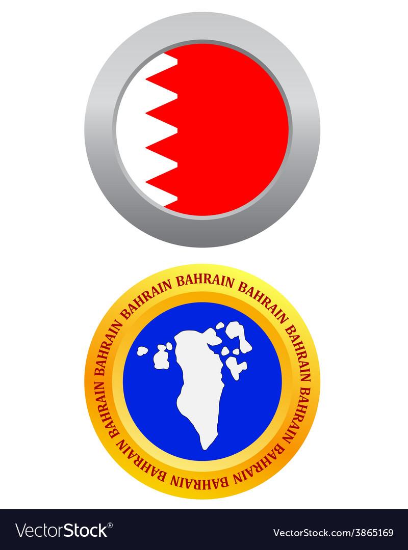 Button as a symbol BAHRAIN vector image