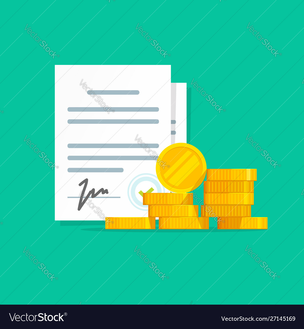 Contract success deal or agreement with money