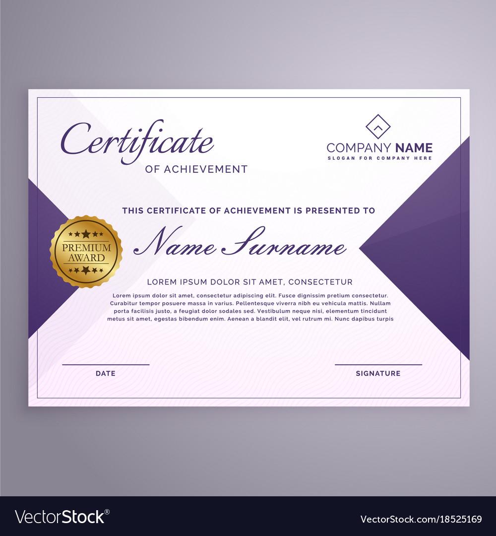 Minimal Style Certificate Design Template Vector Image On Vectorstock
